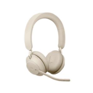 Jabra 26599-999-998 Гарнитура EVOLVE2 65, USB-A, MS Teams, Stereo, Beige